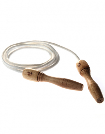 Skipping rope with wooden grips Wooden Skip Rope