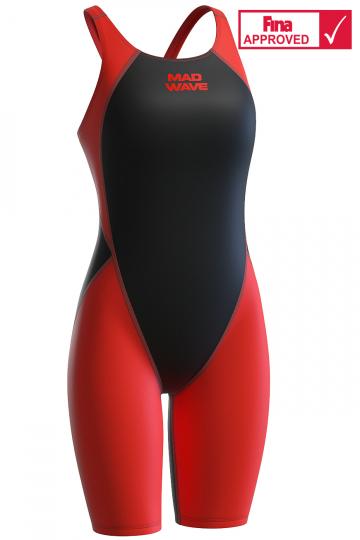 Women racing open back swimsuit MW Revolution women kneeskin swimsuit
