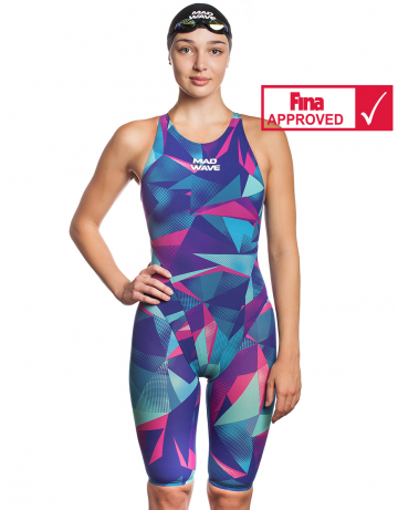 Women racing open back swimsuit Bodyshell Women Short Leg Fina Approved 2010