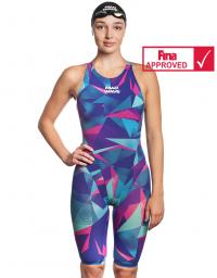 Women racing open back swimsuit Bodyshell Women Short Leg Fina Approved 2010
