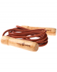 Скакалки Wooden Skip Rope with leather cord